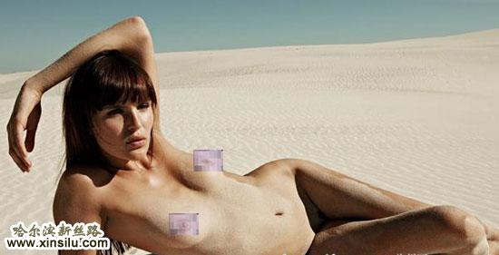 沙漠全裸性感诱惑