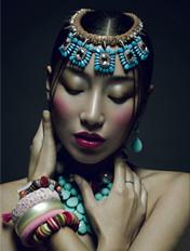 民族风格饰品之殇时尚妆容
