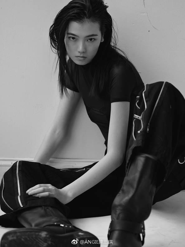 模特学员,陈思琪复古黑白大片